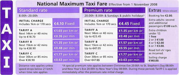 precios_taxis_irlanda